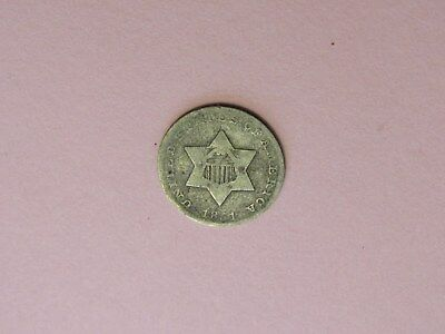 1851 3 cent silver piece ,free shipping