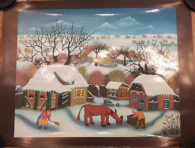 """WINTER IN HLEBINE"" Ivan GENERALIC 2445/5000 Dietz Officien Seidendruck"
