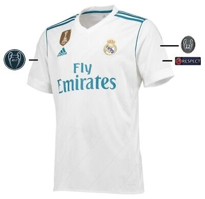 Trikot Adidas Real Madrid 2017-2018 Home UCL [152-XXXL] Champions League Badge