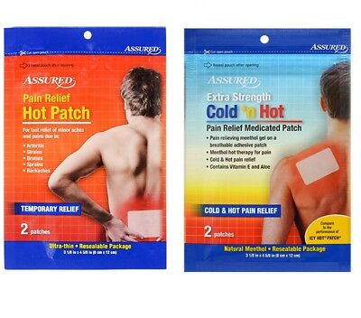 Assured Cold 'n Hot Pain Relief Medicated Patches 2 Patches Choose Type