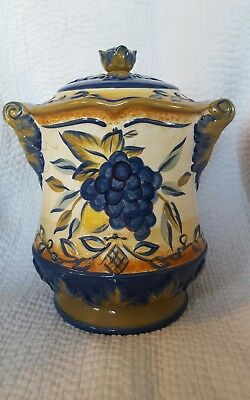 Certified International Botanical Tuscan Fruit/Pamela Gladding Biscuit Jar 123-1
