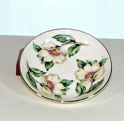 Small Fine Bone China Plate Pear Blossom Crown Staffordshire 1801