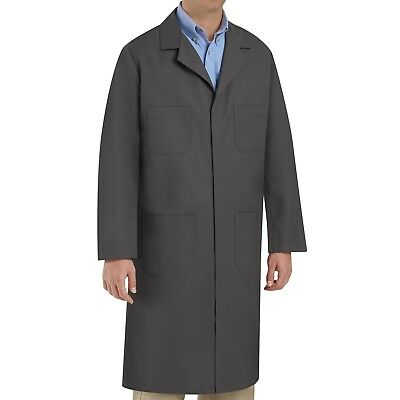 Red Kap Four-Pocket Shop Coat - Charcoal