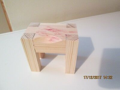 Dolls House Wooden Butcher's Block.