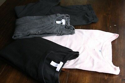 Maternity Clothes Lot XL 4pc long sleeve shirts Leggings Old Navy Pink black