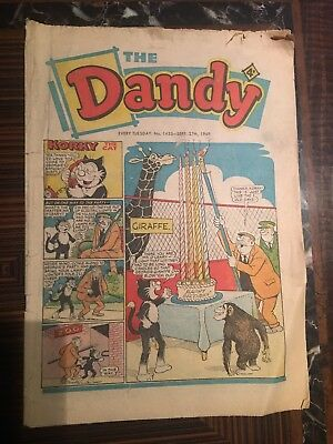 Dandy Comic No 1453 September 27th 1969, Vintage UK Korky the Cat, Desperate Dan