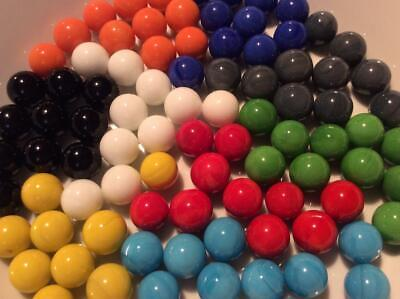 25 SOLID COLOUR SMALL MARBLES 14mm CHINESE CHEQUERS SOLITAIRE GAME PLAY TRADE
