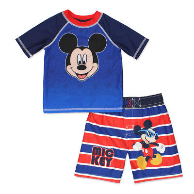 Mickey Mouse Clubhouse Toddler Boys Swim Trunks and Rash Guard Set MMKIT104
