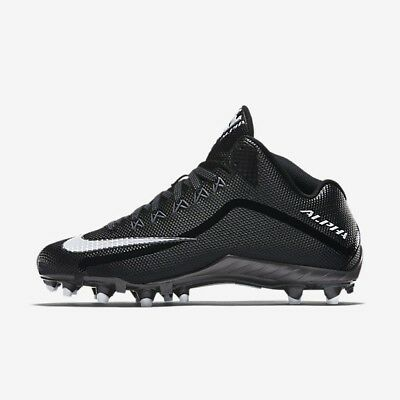 a4fb053f0e9e Nike Alpha Pro 2 3/4 719927 010 Black White NikeSkin Men Football Cleats Sz