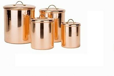 4 Piece Copper Canister Set