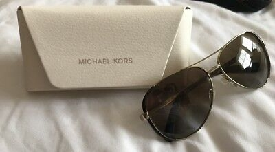 NWT Michael Kors Sunglasses MK 5004 1014T5 Polarized Gold / Brown Gradient 59mm