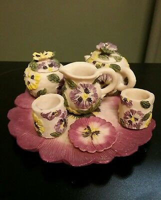 FORMALITIES BY Baum Brothers Miniature Tea Set Pansy Chintz 9 Piece ...
