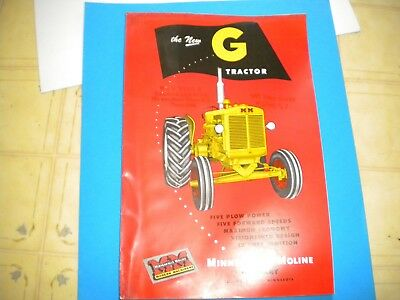 Minneapolis Moline G Tractor brochure a