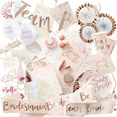 Team Bride Hen Night Out Bachelorette Party Decoration Accessories Tableware Set
