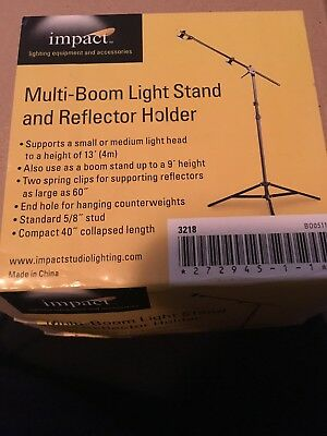 New NIB Impact Multi-Boom Light Stand And Reflector Holder Professional Photo