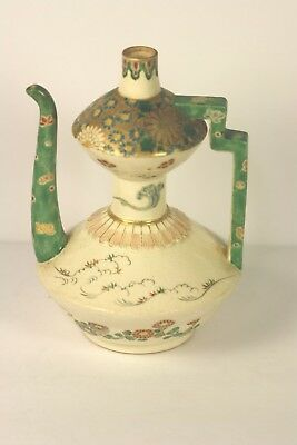 Antique Vintage Japanese Signed Ceramic Meiji Era Hand Painted Tea Pot No Res.
