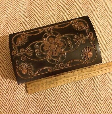 Vintage / Antique Wooden Jewellery /Trinket / Musical Box / Russian ?