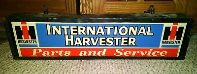 Vintage International Harvester Parts and Service Fantasy Lighted Sign Rare