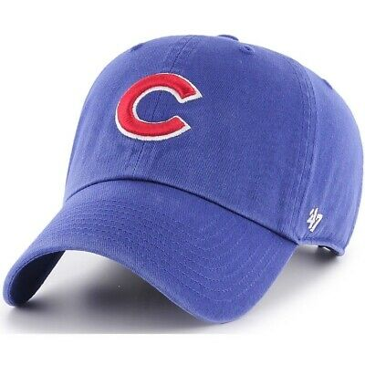 Chicago Cubs 47 Brand MVP Clean Adjustable Field Classic Blue Hat Cap MLB