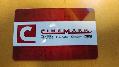 Cinemark Movie Gift Card $11 or more Value - Century, Rave, Cinearts, Tinseltown