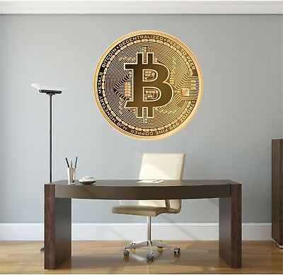 Bitcoin Wall Decal Vinyl Sticker BTC Cryptocurrency Ethereum Litecoin Home Decor