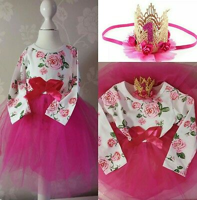 baby girl first 1st birthday outfit vintage style tutu dress cake smash photo