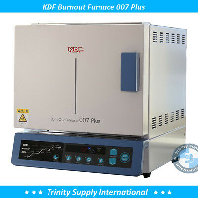 KDF 007 PLUS Burnout Furnace Quick Heat Rise Wide Chamber Dental Lab NEW