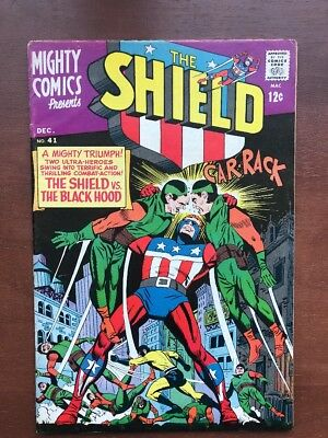Mighty Comics #41 (1966) The Shield Vs The Black Hood Key Issue Silver Age