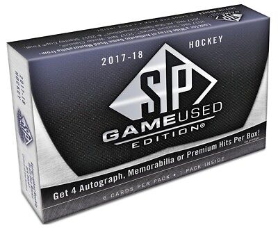 Upper Deck 2017-2018 NHL SP Game-Used Hockey Display