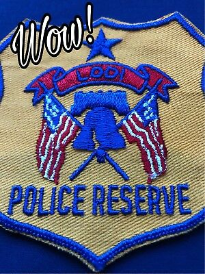 California Police Patch - Police Reserve , Lodi Police Department (Very old)