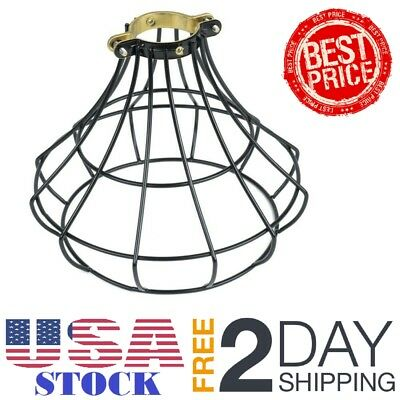 Wire Industrial Cage Pendant Light Shade Ceiling Hang Vintage Lamp Decor Resto
