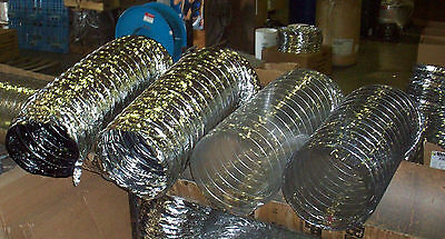 "Flex Duct - Wire / 12"" x 25' Section   -  Flexible Ducting"