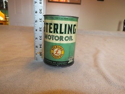Vintage Gas and Oil Sterling Gas Motor Oil can by Pennsylvania Motor Oil