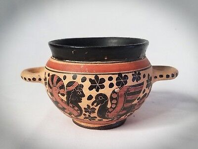 Grand Tour Terracotta Greek Style Skyphos Wine Cup