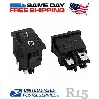 2 x Brand New High Power - Vacuum Shop Vac Rocker Switches 4-Pin (ON-OFF) 10amp