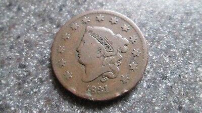 1831 LARGE CENT in VERY NICE condition.NICE DATE, FREE SHIPPING