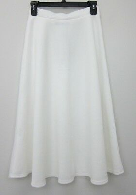 44709c8fd BOOHOO WOMEN'S ARIANNA Plain Full Circle Midi Skirt US 6 Ivory NWT ...