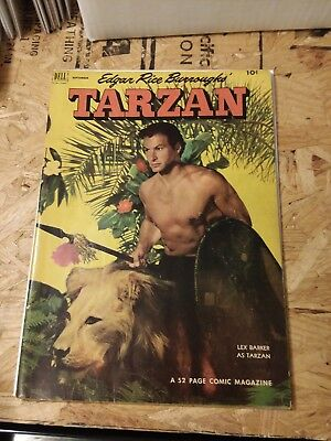 comic book-Edgar Rice Burroughs, Tarzan-Les Barker-September 1952-Vol.1 # 36