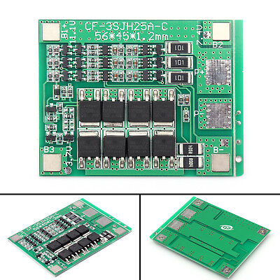 4× 3S 11.1V 25A W/Balance Li-ion Lithium 18650 Battery PCB Protection Board USA