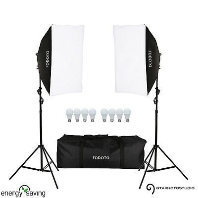 1800w Photo Video Continuous Softbox Lighting Kit (LED)