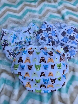 Thirsties Duo Wrap Snap cloth diaper covers - Size 2, lot of 3 NWT