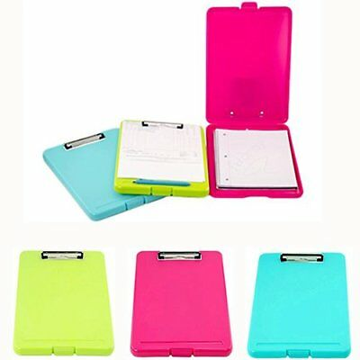 3 Plastic Storage Clipboard Slim Case Office Supply Document Letter Size Holder