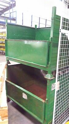 Stackable Metal storage pallet bins with open flap access - x15 one job lot
