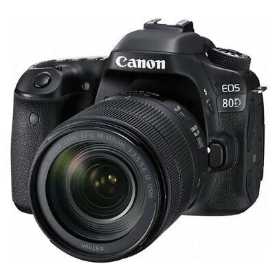 Canon EOS 80D DSLR Camera + EF-S 18-135mm f/3.5-5.6 IS USM Lens - Brand New!