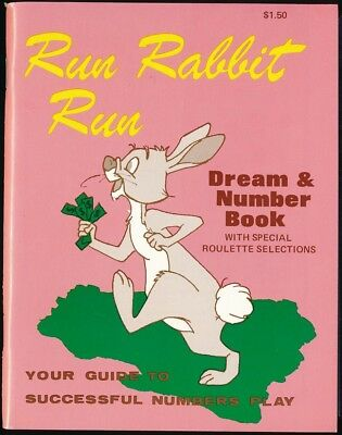 RUN RABBIT, RUN 1977 Dream & Number Book ROULETTE SELECTIONS Near Mint NOS