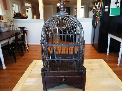 Awesome antique/ Vintage wooden bird cage