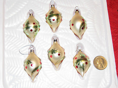 Vintage Style Featherweight Hand-Crafted Glass Ornaments RARE! CHRISTMAS
