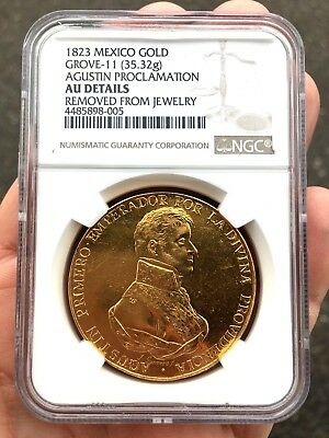 ¡¡ EXTREMELY RARE !! GOLD MEDAL PROCLAMATION ITURBIDE. MEXICO. 1823. 35 grs!!