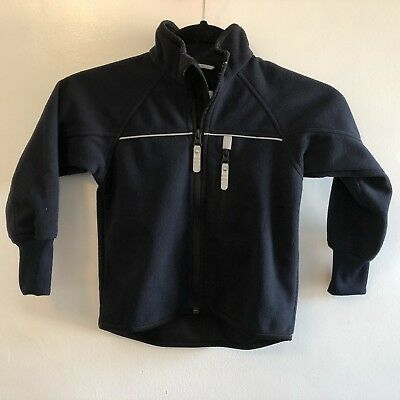 Polarn O Pyret Windfleece Jacket Navy Size 2-3 years 98 excellent Sweden EUC