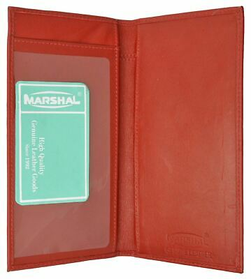 Genuine Leather PLAIN Checkbook Cover Red NEW!!!